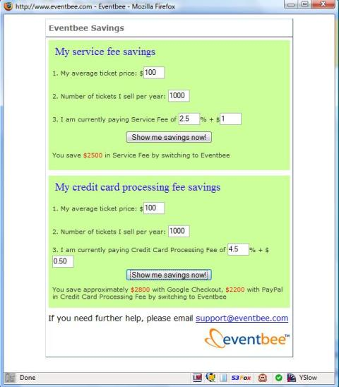Evenbee Savings Calculator