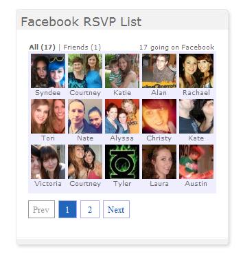 Facebook Attending List