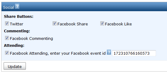 Facebook Attendee List Setting
